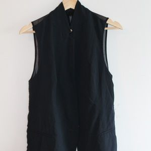 ZARA Basic Navy Vest with Sheer Back